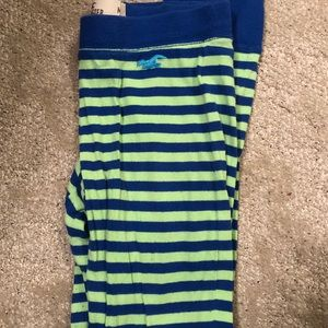 Hollister Green and blue striped leggings